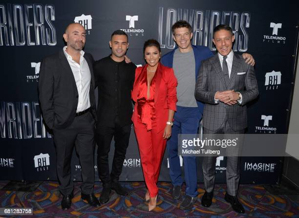 Director Ricardo de Montreuil actors Gabriel Chavarri and Eva Longoria producer Jason Blum and actor Theo Rossi attends the Los Angeles special...