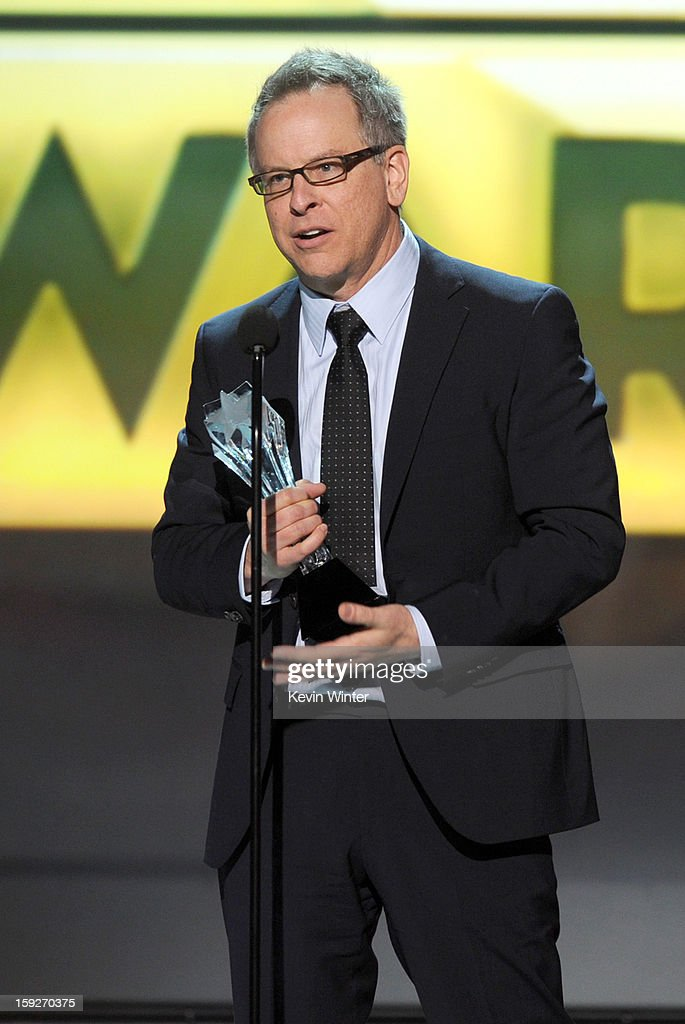 Director Rich Moore accepts the Best Animated Feature Award for 'Wreck-It Ralph' onstage at the 18th Annual Critics' Choice Movie Awards held at Barker Hangar on January 10, 2013 in Santa Monica, California.