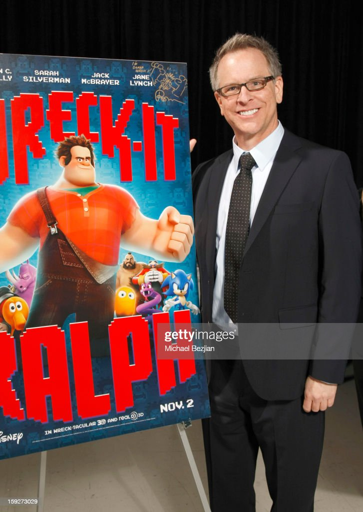 Director Rich Moore attends the poster signing event for charity during the Critics' Choice Movie Awards 2013 at Barkar Hangar on January 10, 2013 in Santa Monica, California.