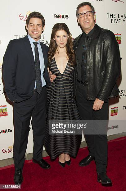 Director Richard LaGravenese Anna Kendrick and Jeremy Jordan attend 'The Last Five Years' Premiere Presented By Sabra Hummus And Jackson's Honest...