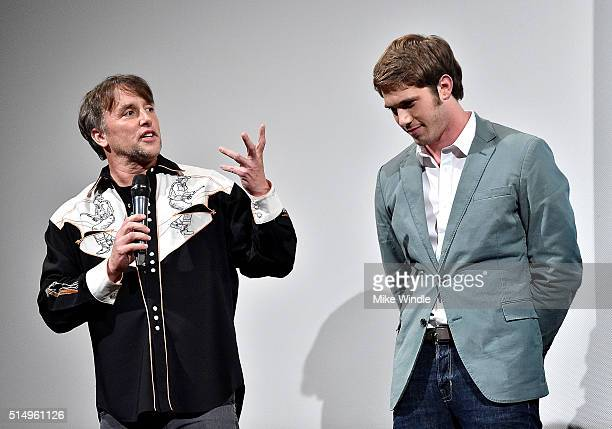 Director Richard Linklater and actor Blake Jenner attend the screening of 'Everybody Wants Some' during the 2016 SXSW Music Film Interactive Festival...