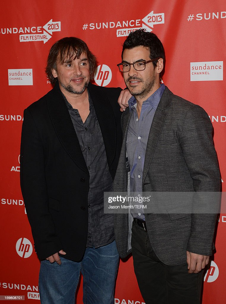 Director <a gi-track='captionPersonalityLinkClicked' href=/galleries/search?phrase=Richard+Linklater&family=editorial&specificpeople=242770 ng-click='$event.stopPropagation()'>Richard Linklater</a> and producer <a gi-track='captionPersonalityLinkClicked' href=/galleries/search?phrase=Jacob+Pechenik&family=editorial&specificpeople=7450664 ng-click='$event.stopPropagation()'>Jacob Pechenik</a> attend the 'Before Midnight' premiere at Eccles Center Theatre on January 20, 2013 in Park City, Utah.