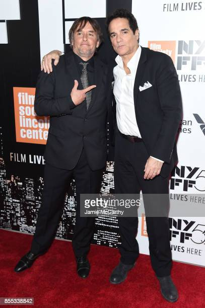 Director Richard Linklater and Yul Vazquez attend the opening night premiere of 'Last Flag Flying' during the 55th New York Film Festival at Alice...