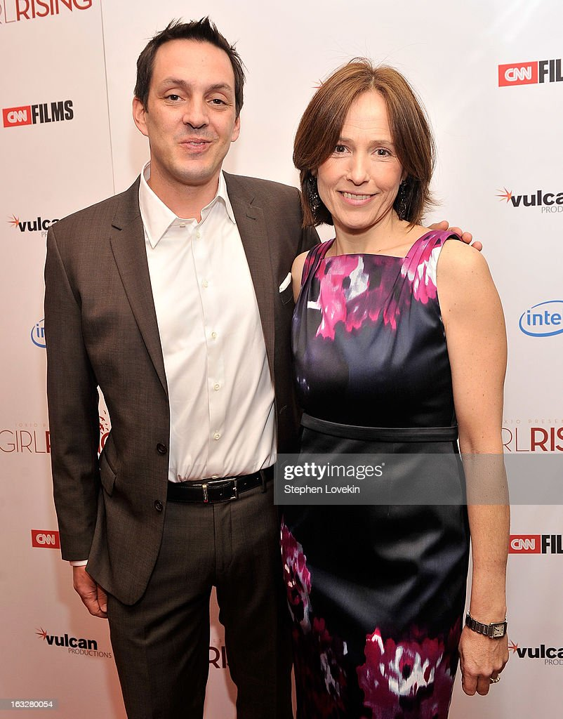 Director Richard Robbins and producer Holly Gordon attend the 'Girl Rising' premiere at The Paris Theatre on March 6, 2013 in New York City.