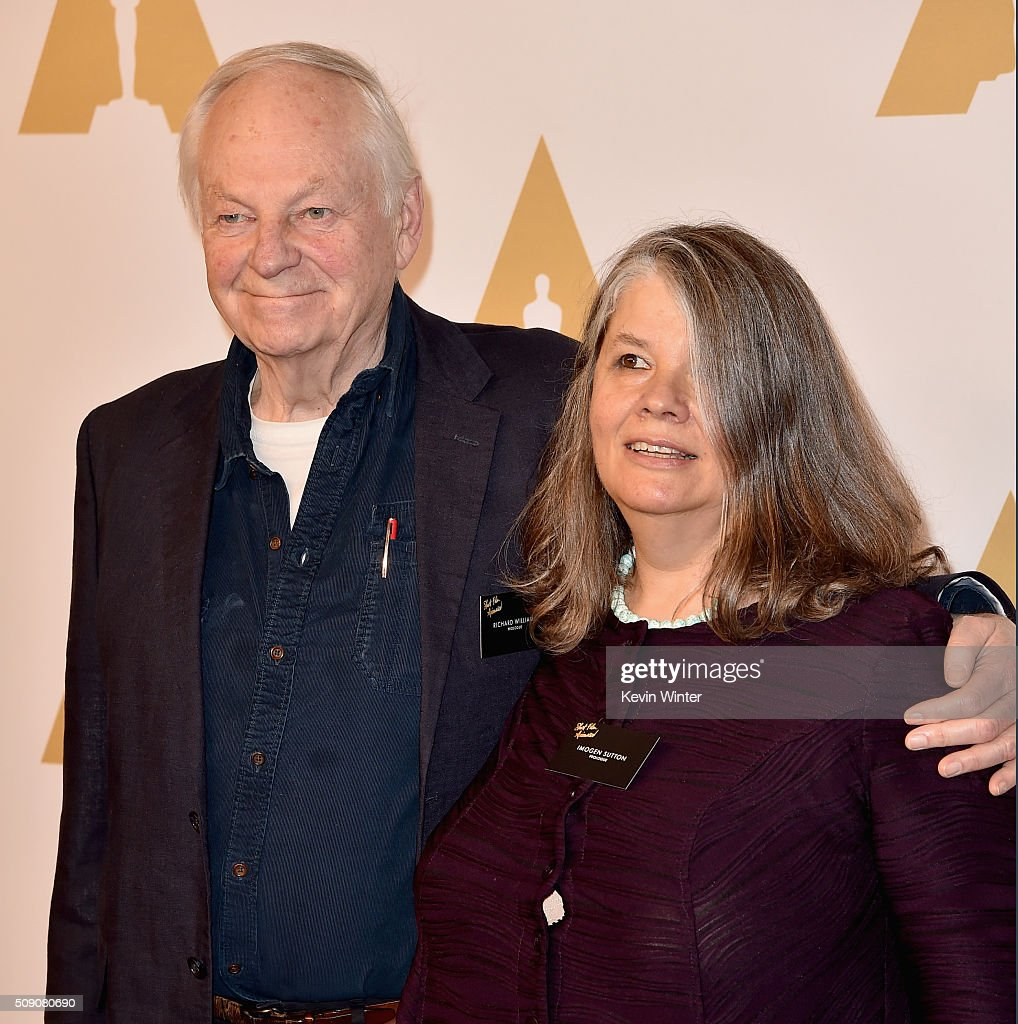 Director Richard Williams (L) and producer <a gi-track='captionPersonalityLinkClicked' href=/galleries/search?phrase=Imogen+Sutton&family=editorial&specificpeople=15401491 ng-click='$event.stopPropagation()'>Imogen Sutton</a> attend the 88th Annual Academy Awards nominee luncheon on February 8, 2016 in Beverly Hills, California.