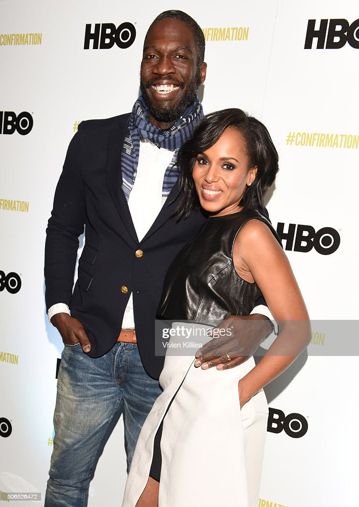 Director Rick Famuyiwa and actress Kerry Washington attend HBO's 'Confirmation' At Sundance on January 23 2016 in Park City Utah