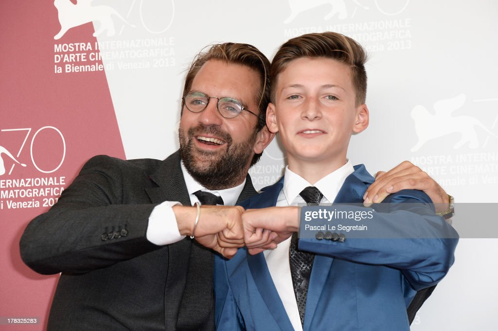 Director Rick Ostermann and actor Levin Liam attend Wolfschildren Photocall during The 70th Venice International Film Festivalon August 29, 2013 in Venice, Italy.