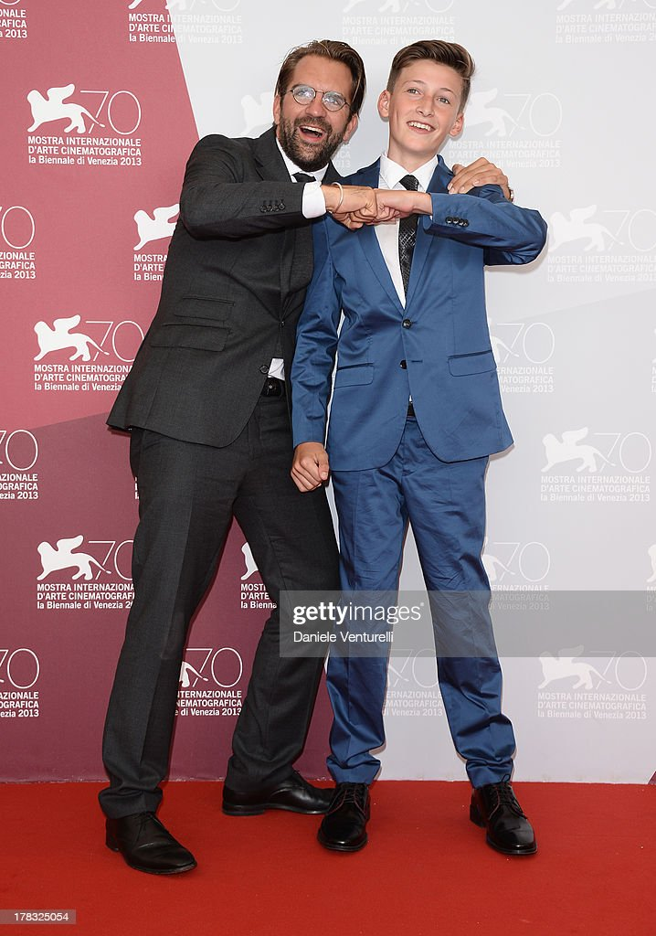 Director Rick Ostermann and actor Levin Liam attend 'Wolfskinder' Photocall during the 70th Venice International Film Festival on August 29, 2013 in Venice, Italy.