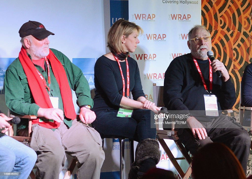 Director Rick Rosenthal, The Wrap founder Sharon Waxman and producer Jonathan Dana speak during UCLA and The Wrap Sundance 2013 Panel at The Claim Jumper on January 21, 2013 in Park City, Utah.