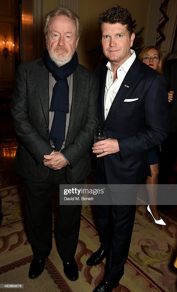 Director Ridley Scott and Ambassador Matthew Barzun attend The Academy Of Motion Pictures Arts & Sciences new members reception hosted by Ambassador Matthew Barzun and Mrs Brooke Barzun at the American Ambassadors Residence, Winfield House, Regents Park on October 14, 2015 in London, England.