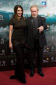 Director Ridley Scott and Giannina Facio attend the 'Exodus Gods and Kings' at the Kinepolis cinema on December 4 2014 in Madrid Spain