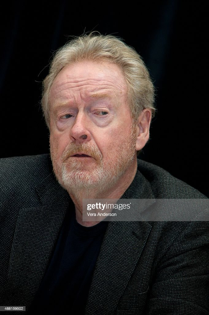 Director Ridley Scott at 'The Martian' Press Conference at the Ritz Carlton on September 11, 2015 in Toronto, Ontario.