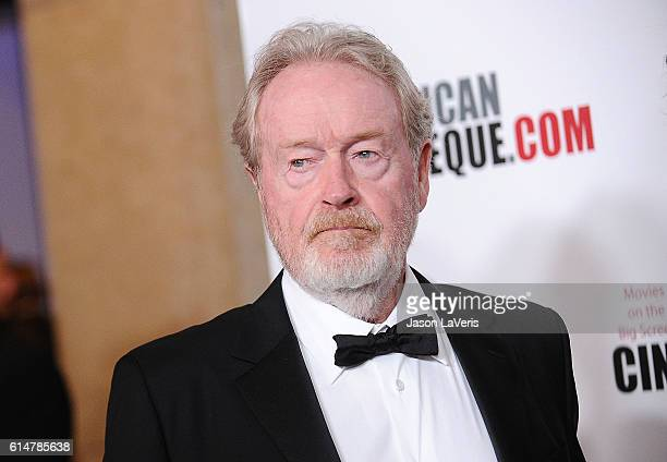 Director Ridley Scott attends the 30th annual American Cinematheque Awards gala at The Beverly Hilton Hotel on October 14 2016 in Beverly Hills...