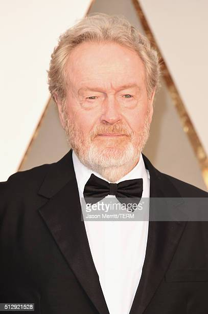 Director Ridley Scott attends the 88th Annual Academy Awards at Hollywood Highland Center on February 28 2016 in Hollywood California
