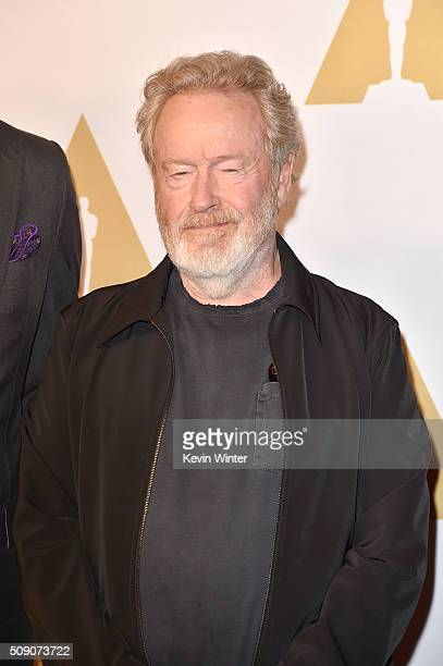 Director Ridley Scott attends the 88th Annual Academy Awards nominee luncheon on February 8 2016 in Beverly Hills California