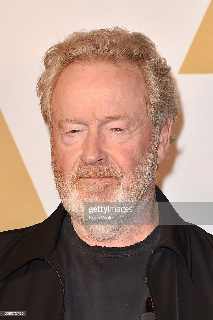 Director <a gi-track='captionPersonalityLinkClicked' href=/galleries/search?phrase=Ridley+Scott&family=editorial&specificpeople=215470 ng-click='$event.stopPropagation()'>Ridley Scott</a> attends the 88th Annual Academy Awards nominee luncheon on February 8, 2016 in Beverly Hills, California.