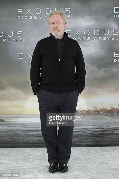 Director Ridley Scott attends the 'Exodus Gods And Kings' photocall at Villamagna Hotel on December 4 2014 in Madrid Spain