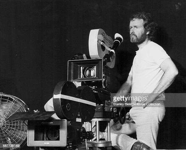 Director Ridley Scott on the set of the movie 'Alien' 1979