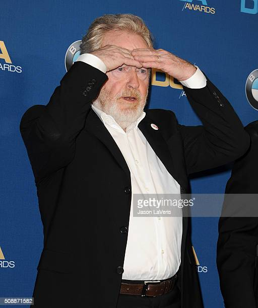 Director Ridley Scott poses in the press room at the 68th annual Directors Guild of America Awards at the Hyatt Regency Century Plaza on February 6...