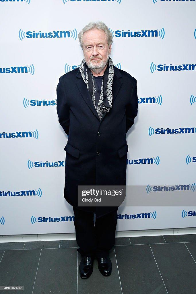Director Ridley Scott visits the SiriusXM Studio on December 8, 2014 in New York City.