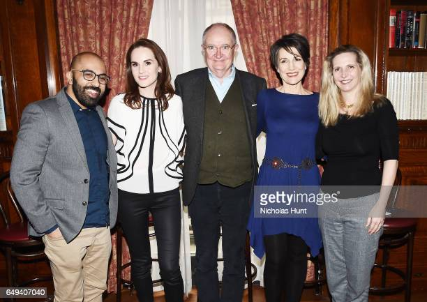 Director Ritesh Batra Michelle Dockery Jim Boardbent Harriet Walter and Dr Amanda Foreman attend the 'The Sense of an Ending' Lunch Q and A at The...