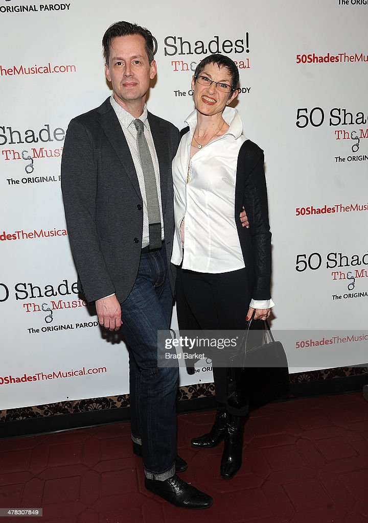 Director Rob Lindley and choreographer Mindy Cooper attend the '50 Shades! The Musical' Off Broadway opening night at Elektra Theatre on March 12, 2014 in New York City.