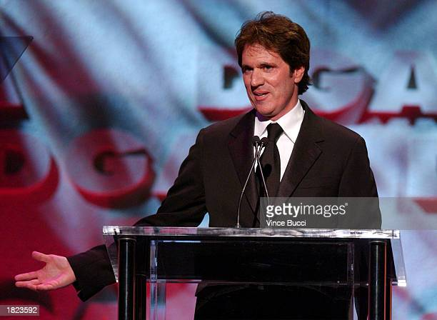 Director Rob Marshall accepts the feature film nomination for 'Chicago' on stage during the 55th Annual Directors Guild Awards at the Century Plaza...