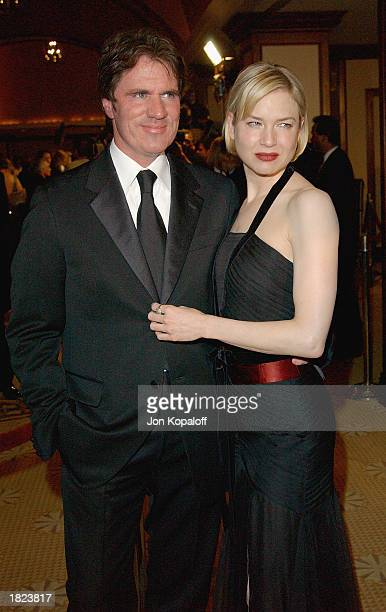 Director Rob Marshall and actress Renee Zellweger at the 55th Annual Directors Guild Awards at the Century Plaza Hotel on March 1 2003 in Los Angeles...