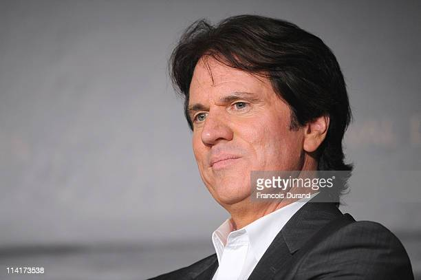 Director Rob Marshall attends the 'Pirates of the Caribbean On Stranger Tides' press conference at the Palais des Festivals during the 64th Cannes...