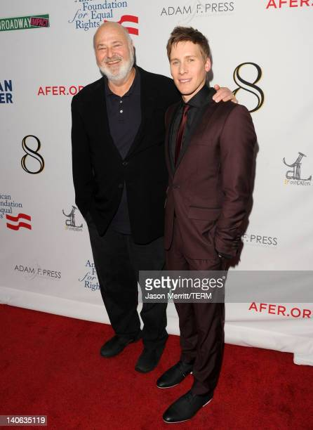 Director Rob Reiner and writer Dustin Lance Black arrives at the premiere of '8' presented by The American Foundation For Equal Rights Broadway...