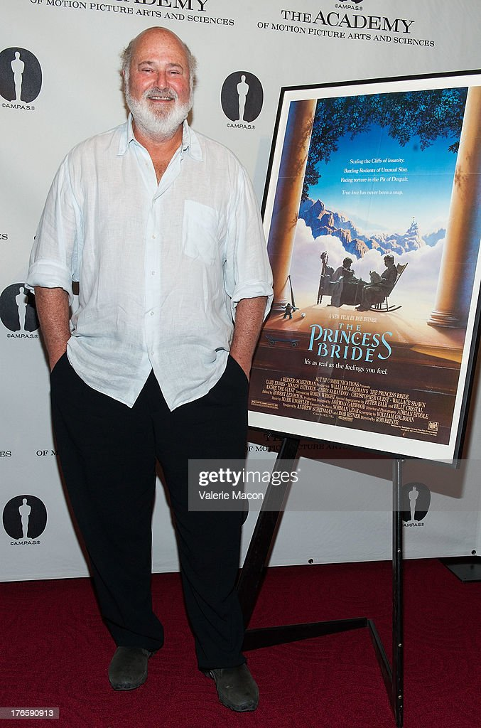 Director Rob Reiner attends the Academy Of Motion Picture Arts And Sciences' Presents 'The Princess Bride' With Live Commentary Onstage at AMPAS Samuel Goldwyn Theater on August 15, 2013 in Beverly Hills, California.