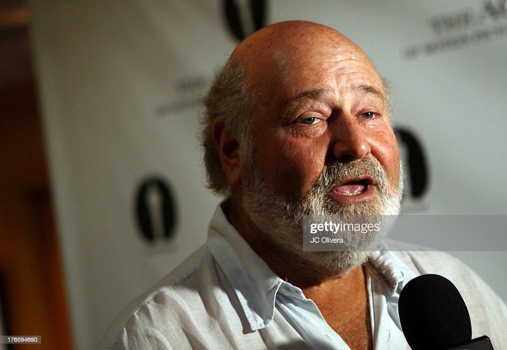 Director <a gi-track='captionPersonalityLinkClicked' href=/galleries/search?phrase=Rob+Reiner&family=editorial&specificpeople=208749 ng-click='$event.stopPropagation()'>Rob Reiner</a> attends 'The Princess Bride' Live Commentary hosted by Jason Reitman at The Academy at AMPAS Samuel Goldwyn Theater on August 15, 2013 in Beverly Hills, California.