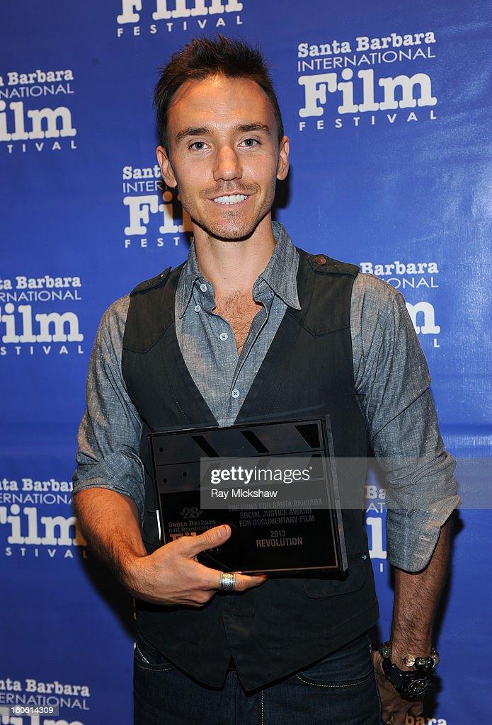 Director Rob Stewart, winner of the 'Fund for Santa Barbara Social Justice Award for Documentary Film' attends the 28th Santa Barbara International Film Festival Awards Breakfast on February 3, 2013 in Santa Barbara, California.