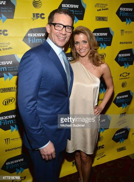 Director Rob Thomas and wife Katie arrive at the premiere of 'Veronica Mars' during the 2014 SXSW Music Film Interactive Festival at the Paramount...