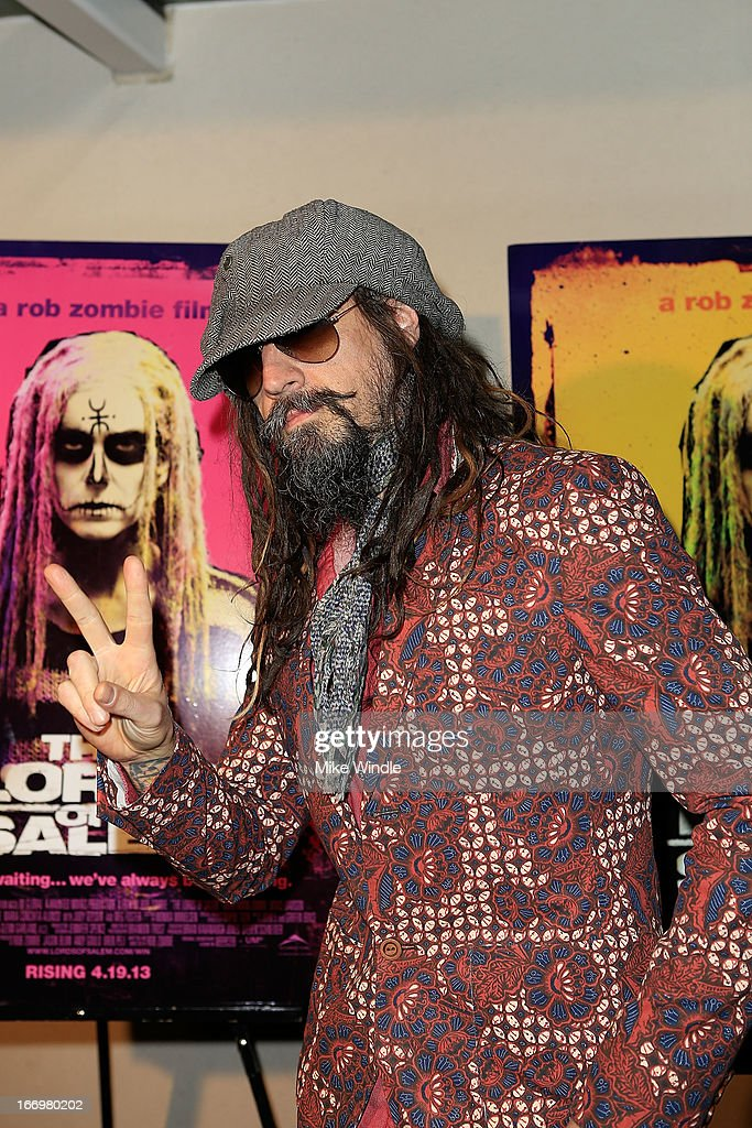 Director <a gi-track='captionPersonalityLinkClicked' href=/galleries/search?phrase=Rob+Zombie&family=editorial&specificpeople=217722 ng-click='$event.stopPropagation()'>Rob Zombie</a> arrives at <a gi-track='captionPersonalityLinkClicked' href=/galleries/search?phrase=Rob+Zombie&family=editorial&specificpeople=217722 ng-click='$event.stopPropagation()'>Rob Zombie</a>'s 'The Lords Of Salem' Los Angeles premiere at AMC Burbank 16 on April 18, 2013 in Burbank, California.