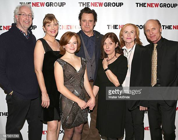 Director Robert Falls Glenne Headly Juliet Brett Bill Pullman Playwright Beth Henley Amy Madigan and Ed Harris attend 'The Jacksonian' opening night...