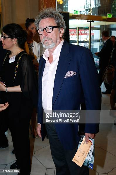 Director Robert Guediguian attends the Concert in Memory of 100th Anniversary of Armenian Genocide at Theatre du Chatelet on April 21 2015 in Paris...