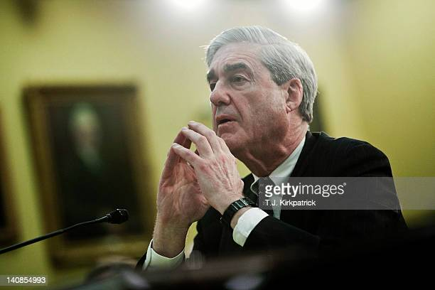 Director Robert Mueller III testifies before the House Appropriations Subcommittee on Commerce Justice Science and Related Agencies on March 7 2012...