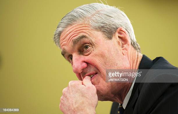 FBI Director Robert Mueller III testifies on the agencies budget before the House Appropriations Committee in Washington DC March 19 2013 AFP...