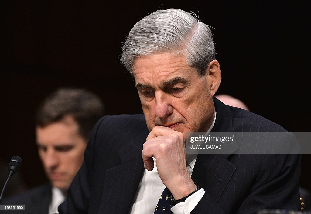 FBI Director Robert Mueller testifies before a full committee hearing on 'Current and Projected National Security Threats to the United States'at the Hart Senate Office Building in Washington, DC, on March 12, 2013. AFP PHOTO/Jewel Samad