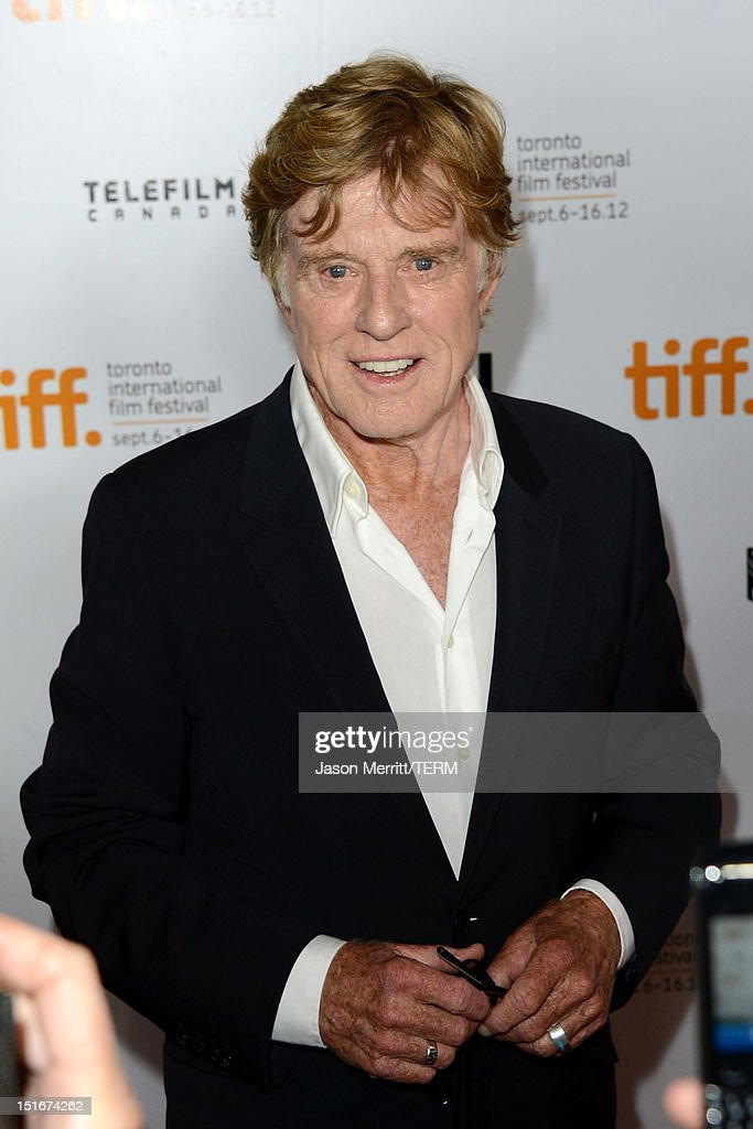 Director <a gi-track='captionPersonalityLinkClicked' href=/galleries/search?phrase=Robert+Redford&family=editorial&specificpeople=202897 ng-click='$event.stopPropagation()'>Robert Redford</a> arrives at 'The Company You Keep' Premiere at the 2012 Toronto International Film Festival at Roy Thomson Hall on September 9, 2012 in Toronto, Canada.