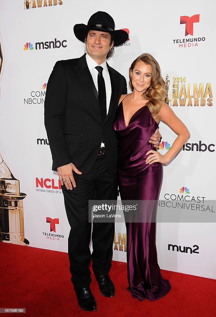 Director Robert Rodriguez and actress Alexa Vega attend the 2014 NCLR ALMA Awards at Pasadena Civic Auditorium on October 10 2014 in Pasadena...