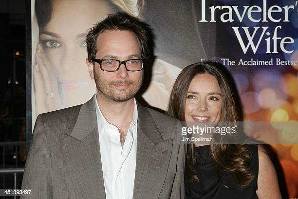 Director Robert Schwentke and wife Jennifer attend the premiere of The Time Traveler's Wife at the Ziegfeld Theatre on August 12 2009 in New York City