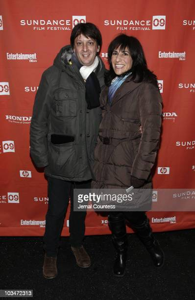 Director Robert Siegel and executive producer Jen Cohn attend the premiere of 'Big Fan' during the 2009 Sundance Film Festival at Racquet Club...