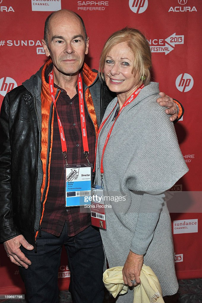 Director Robert Stone and Susan Swartz attend the 'Pandora's Promise' premiere at Prospector Square during the 2013 Sundance Film Festival on January 18, 2013 in Park City, Utah.