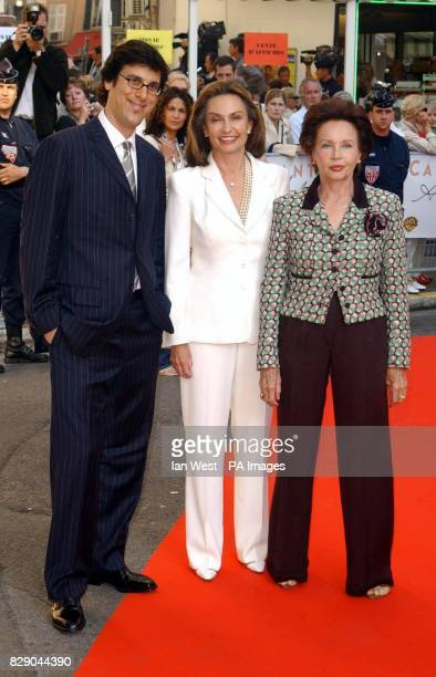 Director Robert Trachtenberg Barbara Grant Jaynes Cary Grant's widow and actress Leslie Caron arrive for the screening of documentary Cary Grant A...