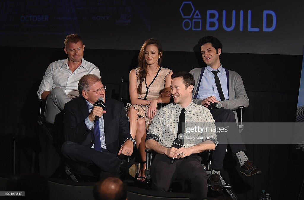 Director Robert Zemeckis and actors James Badge Dale Charlotte Le Bon Ben Schwartz and Joseph GordonLevitt attend AOL Build Speaker Series 'The Walk'...