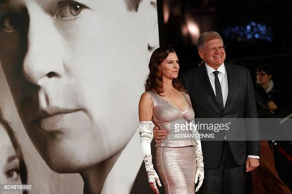 US director Robert Zemeckis and his wife Alexander pose after arriving to attend the UK premiere of the film 'Allied' in Leicester Square central...
