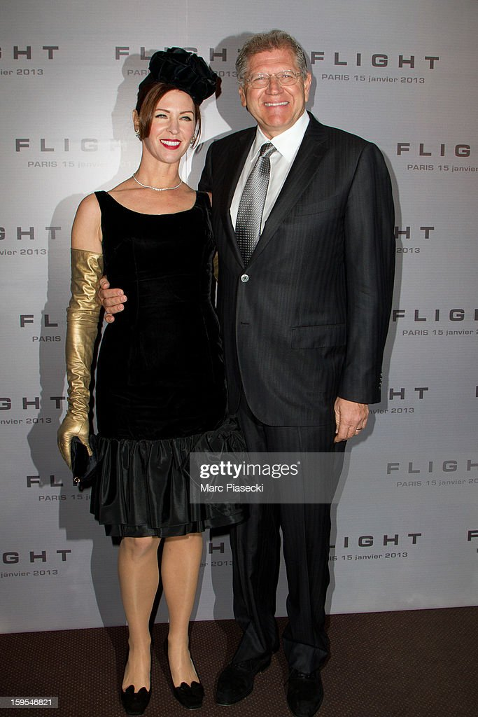 Director Robert Zemeckis and wife Leslie Zemeckis attend the 'Flight' Paris Premiere at Cinema Gaumont Marignan on January 15, 2013 in Paris, France.