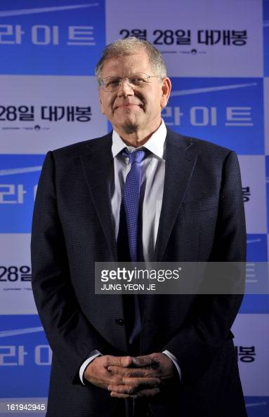 Director Robert Zemeckis attends a press conference to promote his recent film 'Flight' in Seoul on February 18 2013 The movie will open in South...